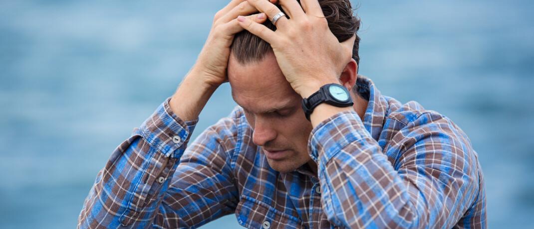 Mann verzweifelt: Die Ungewissheit aufgrund der Corona-Pandemie wird zu einer Zunahme psychischer Erkrankungen führen, meint BU-Experte Matthias Helberg.|© Pexels
