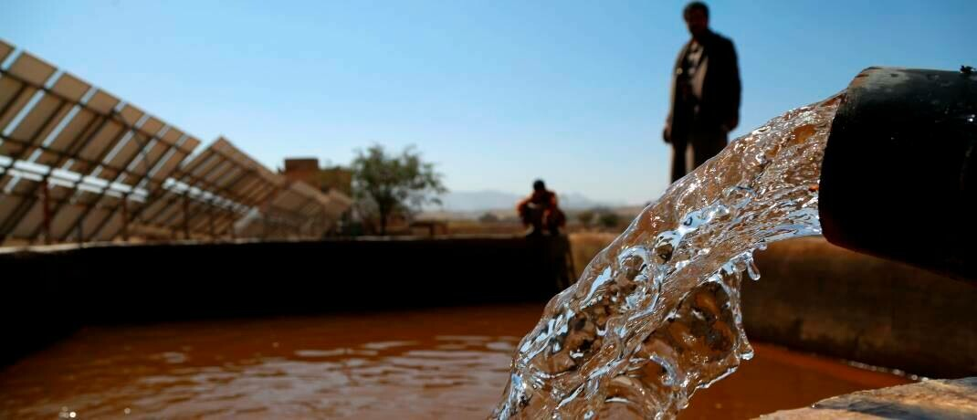Solarbetriebene Wasserpumpe: Nachhaltig orientierte Anlagen erweisen sich krisenresistenter als der breite Markt.|© imago images / Xinhua