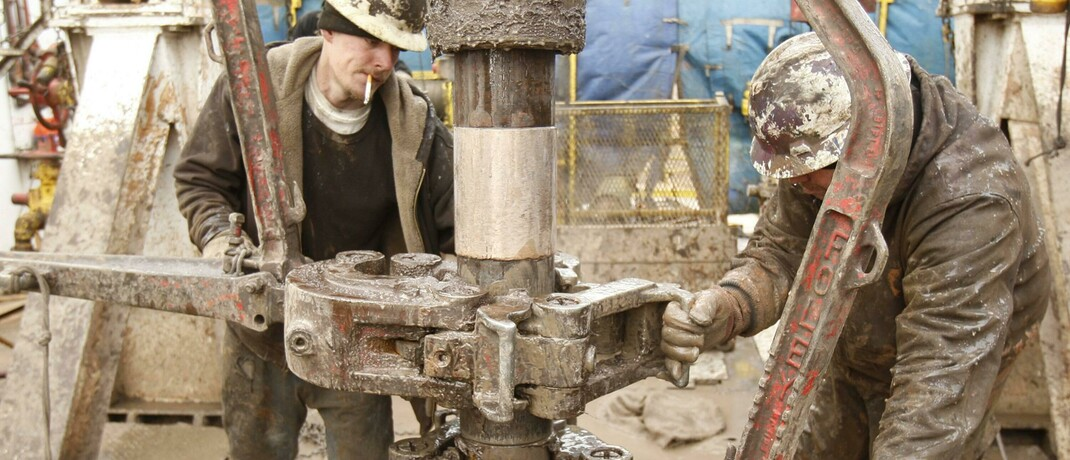 Fracking-Arbeiter in Anthony, Kansas: Die Öl- und Gasindustrie wird die nächste Pleitewelle in den USA anführen, sind sich S&P-Analysten sicher.|© imago images / ZUMA Press