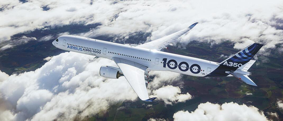 Der Airbus A350 XWB besteht zu rund 50 Prozent aus Kohlefasern des Anbieters Hexcel, was zu großen Treibstoffeinsparungen beiträgt. Unternehmen, deren Produktlösungen das Klima positiv beeinflussen, stehen im Fokus der Global-Climate-and-Environment-Strategie von Nordea|© Airbus S.A.S./S. Ramadier