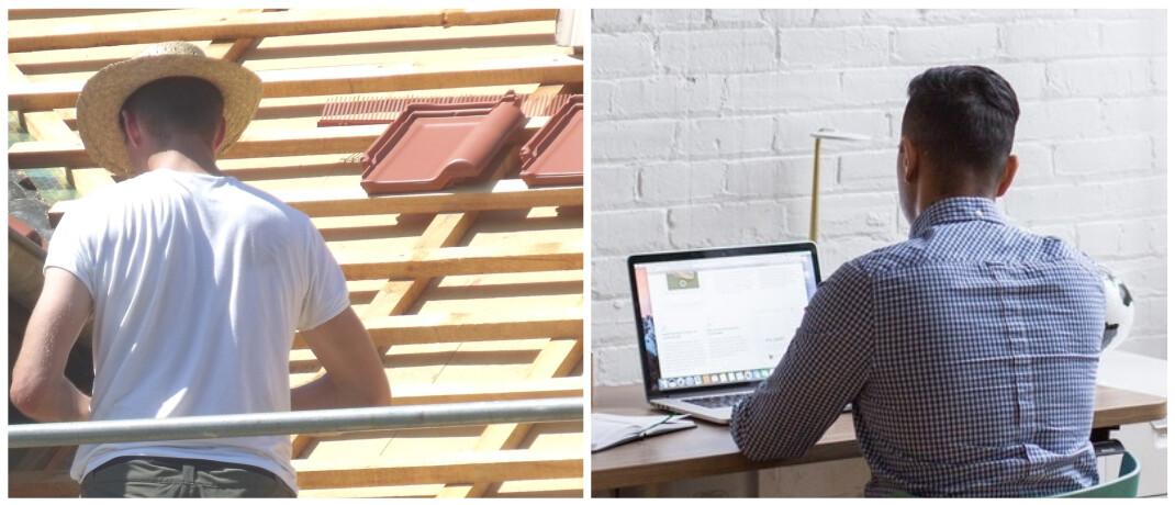 Dachdecker und Büroangesteller: Inveda-Chef Dirk Pappelbaum vergleicht den Einfluss von AU-Klauseln für BU-Musterkunden aus diesen zwei Berufen.|© Rita Köhler / pixelio.de, Burst