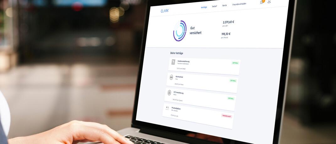 Clark-App: Digitale Versicherungsmanager sollen Online-Kunden einen transparenten Policen-Vergleich ermöglichen.|© Clark Germany GmbH