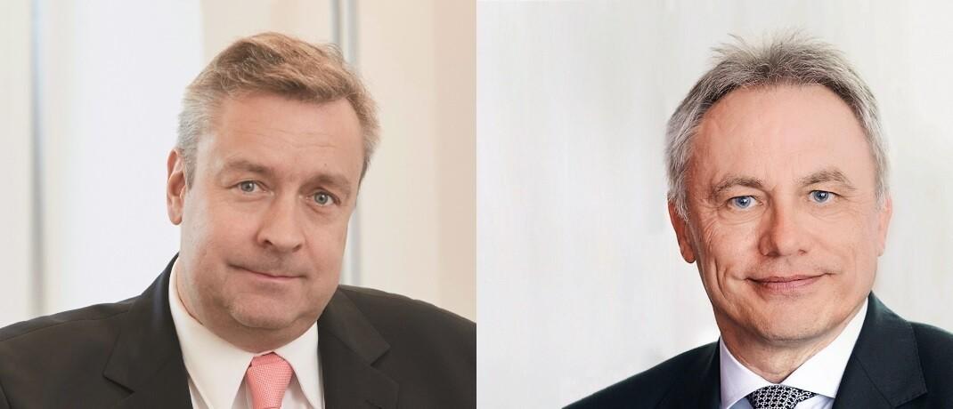 Christoph Bruns, Loys (li.) und Wolfgang Leoni, HQ AM, sind beim Thema quantitatives Investment unterschiedlicher Meinung.|© Piotr Banczerowski; Sal. Oppenheim jr. & Cie.