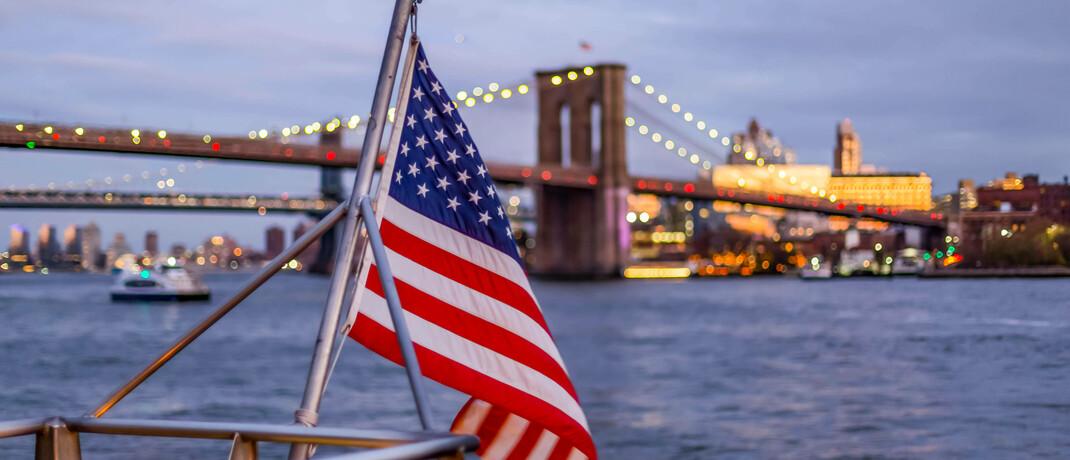 US-Fahne: Der Vector Flexible besteht zu über 50 Prozent aus amerikanischen Wertpapieren.|© Imago Images / Design Pics