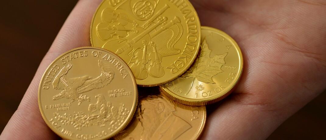 Beliebte Gold-Anlagemünzen: Ein massiver Anstieg der weltweiten Verschuldung, verbunden mit einer ultralockeren Notenbankpolitik, dürfte bis zur nächsten Währungsreform zementiert sein.|© imago images / Schöning
