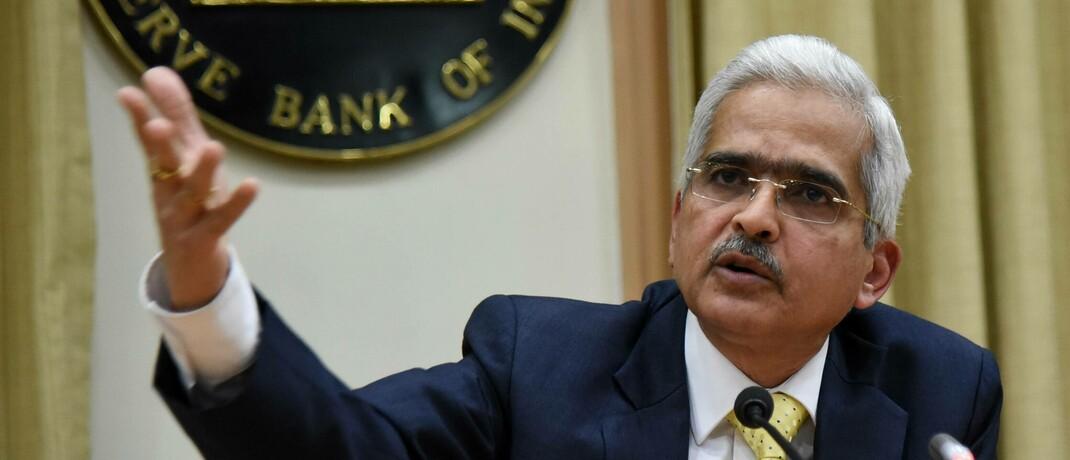 Shaktikanta Das, Chef der indischen Zentralbank (RBI): Wie viele andere Notenbanken der Schwellenländer hat auch die RBI Hilfspakete zur Bewältigung der wirtschaftlichen Folgen der Corona-Pandemie aufgelegt.|© imago images / Xinhua