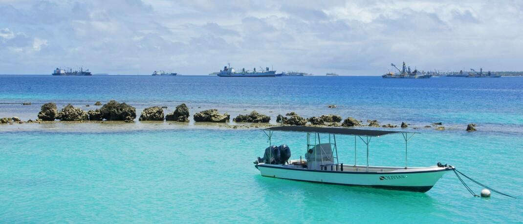 Die Marshallinseln als aufstrebender Finanzort? Wohl kaum. Allerdings haben zwei der von der Bafin ins Abseits gestellten schlimmen Finger angeblich dort ihren Sitz.|© imago images / blickwinkel / B. Bachmann