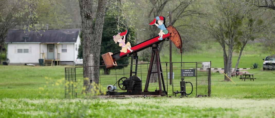 Niedlich, aber diese Erdölpumpe im texanischen Luling funktioniert: Der Preis für die texanische Sorte WTI sank – zumindest an der Terminbörse – zwischenzeitlich unter null.|© imago images / Xinhua / Wang Ying
