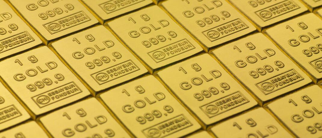 Gold in sogenannten Combibarren: Das Edelmetall gilt vielen Anlegern als Krisenschutz.