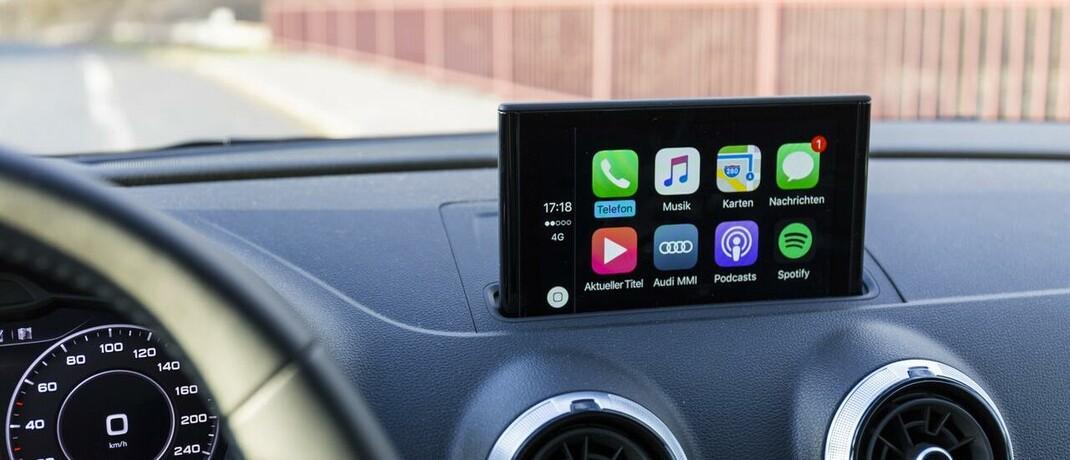 Apple Carplay: Autos verfügen über immer mehr digitale Technik.