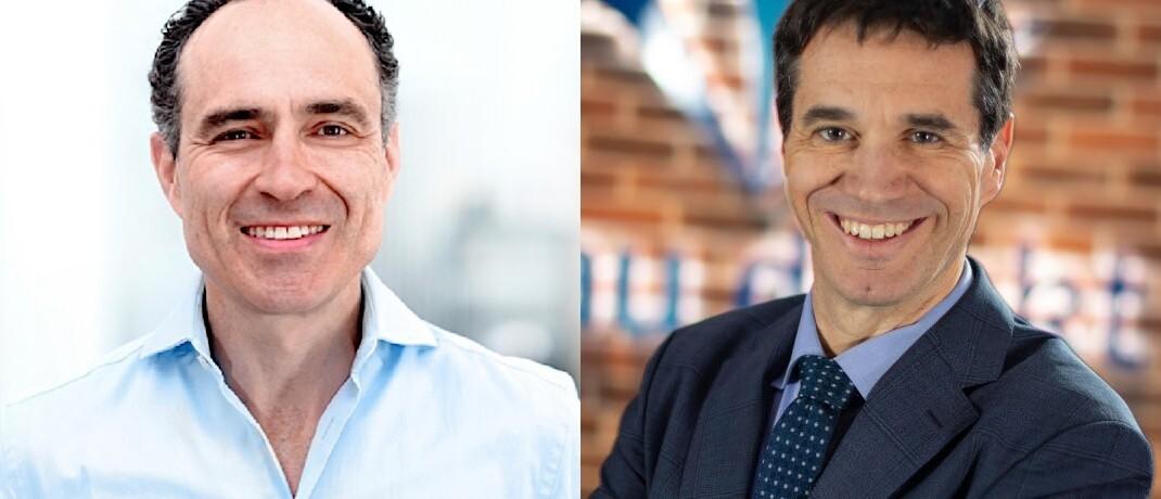 Ingo Weber (Digital Insurance Group, li.) und Oliver Pradetto (Blau Direkt): Der Lübecker Maklerpool hat den Bestand des Insurtechs Knip übernommen.