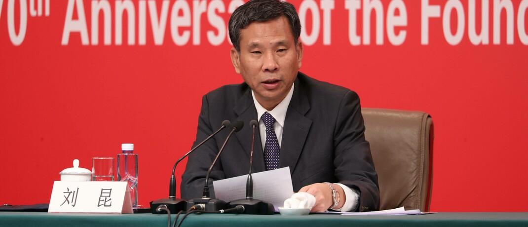 Chinas Finanzministe Liu Kun: Das Land gibt verstärkt Anleihen aus und macht sie Anlegern zugänglich.
