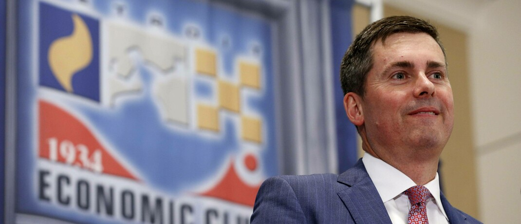 David Ricks ist Chef des US-Medizin-Unternehmens Eli Lilly: Es forscht über Kooperationen an einem Impfstoff gegen Covid-19.