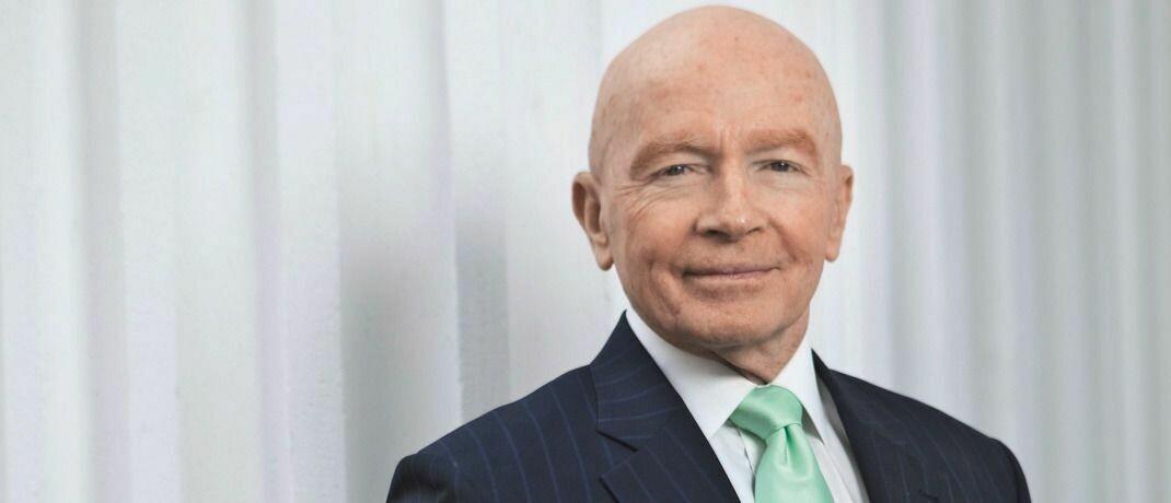 Fondsmanager-Legende Mark Mobius: Schwellenländer bieten Anlegern chancenreiche Anlagemöglichkeiten.