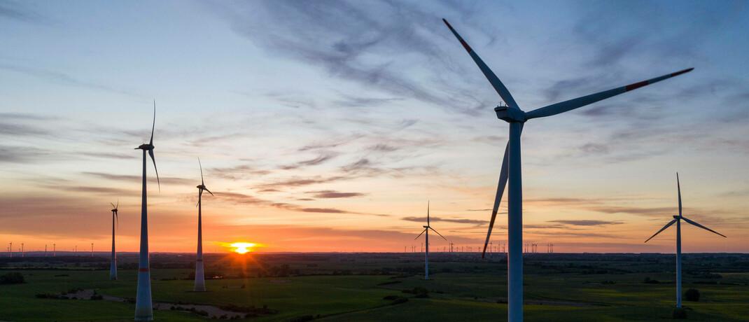Windräder in der Uckermark: Die neuen Amundi-ETFs sind auf Nachhaltigkeit gedreht.