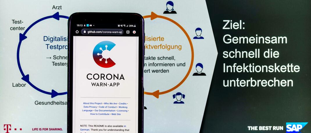 Corona-Warn-App von der Deutschen Telekom und SAP: Laut Robeco werden solche Anwendungen nur erfolgreich sein, wenn digitale Rechte geschützt werden.|© imago images / Future Image