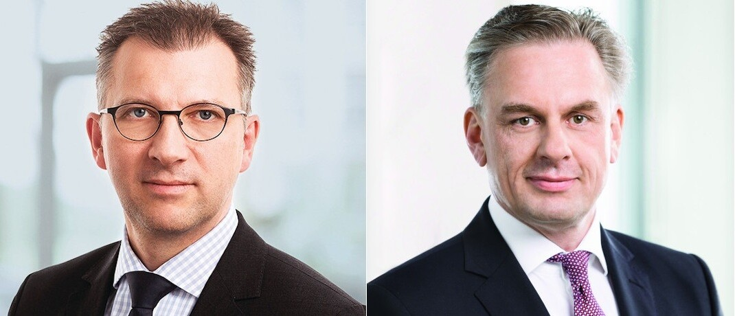 Ulrich Neugebauer (l.) wird ab 1. Juli 2020 Sprecher der Geschäftsführung bei Deka Investments. Jörg Boysen übernimmt zusätzlich zu seinen bisherigen Aufgaben die Rolle des Chefanlagestrategen der Dekabank-Fondstochter.