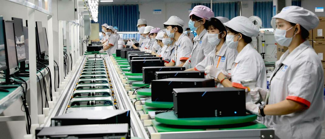 Computer-Produktion im chinesischen Guang: Die Wirtschaft in China erholt sich gerade von der Corona-Krise.
