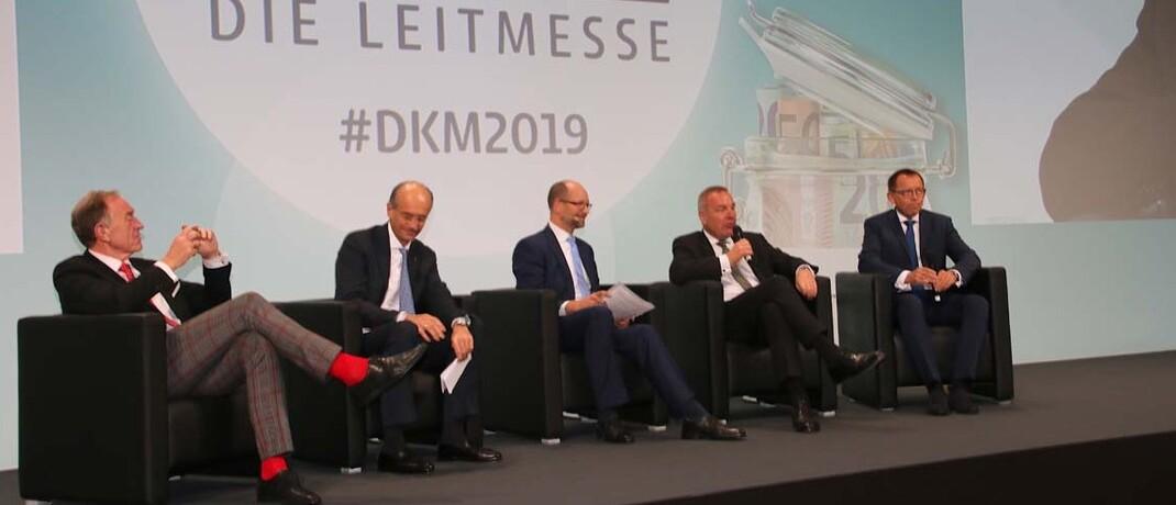 Diskussionsrunde auf der DKM 2019: Die Dortmunder Beratermesse findet 2020 rein digital statt.