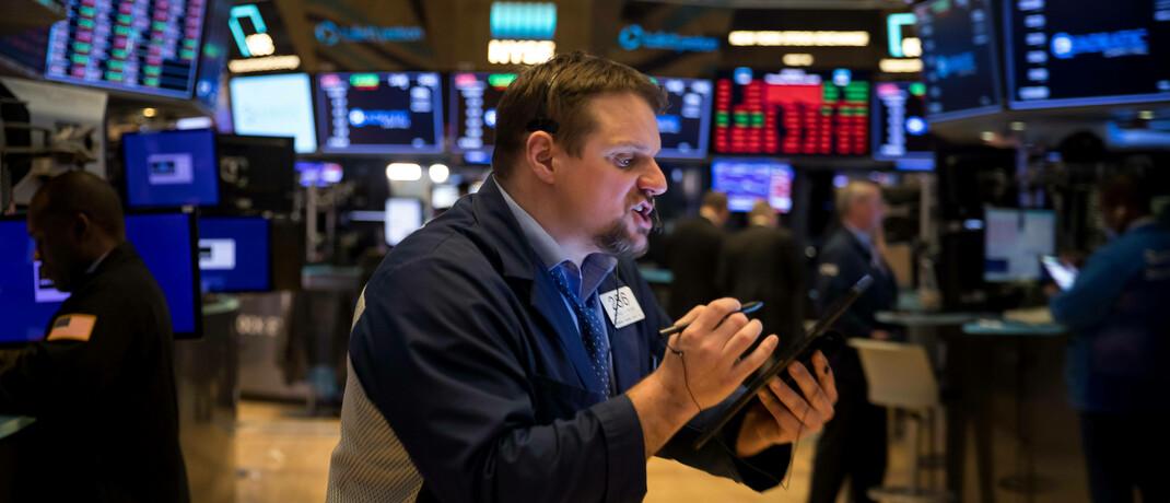 Kein häufiger Anblick: New Yorker Börsenhändler am 12. März 2020, einem schwachen Börsendonnerstag. Denn der schlechteste Börsentag in der Woche ist ein anderer.