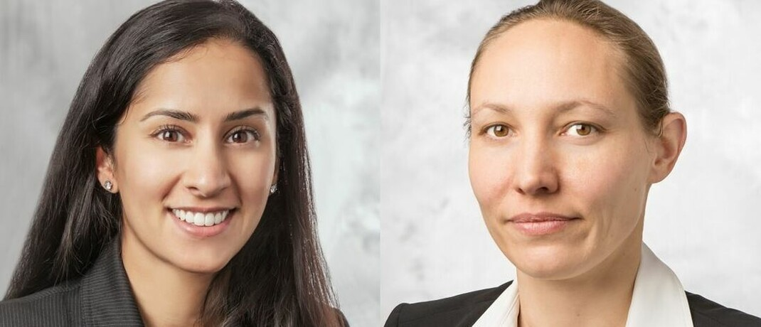 Anleihe-Spezialistinnen von Pimco: Sonali Pier, Portfoliomanagerin für High Yield-Unternehmensanleihen (l.), und Eve Tournier, Head of European Credit Portfolio Management.  | © PIMCO