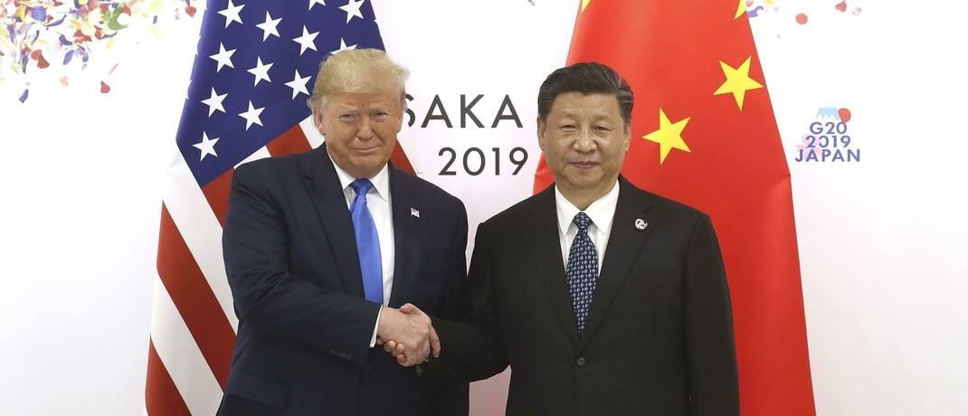 Der US-Präsident Donald Trump mit dem chinesischen Präsidenten Xi Jinping: Das Handelsabkommen zwischen den USA und China sorgte noch zu Jahresbeginn für Hoffnung – mittlerweile ist das Verhältnis denkbar schlecht.