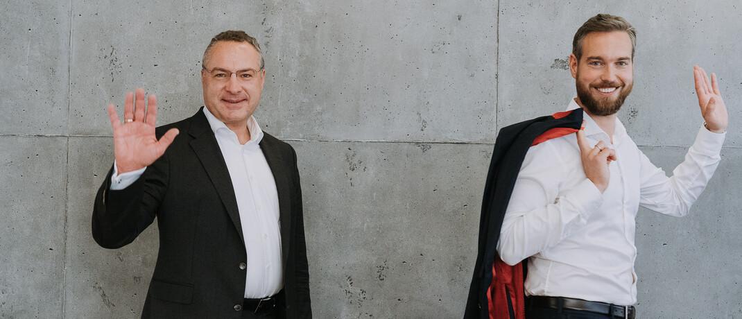 Jan-David Paulsen (re.) und Michael Schnabl: Der eine kommt, der andere geht.