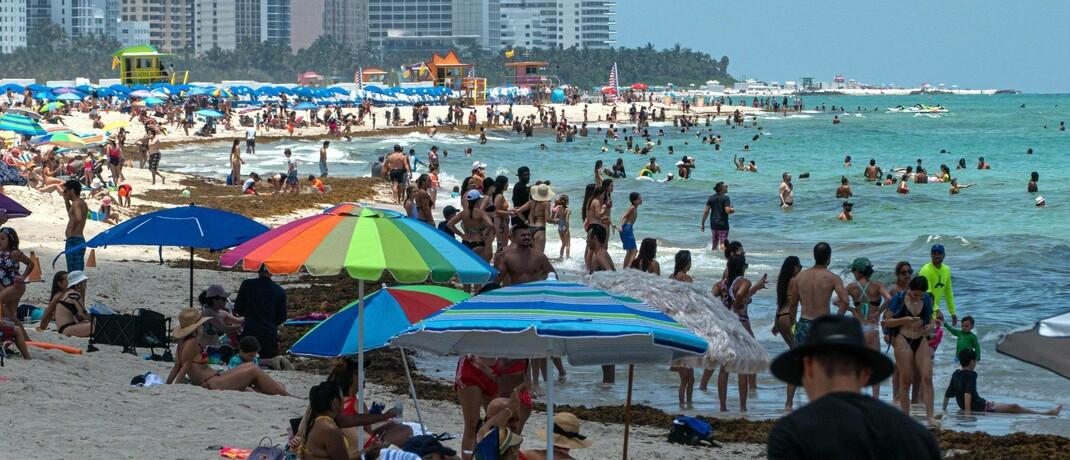 Befüllte Strände in Miami Beach trotz über 20.000 Corona-Fällen: Steigen die Infektionsraten, muss die Fed erneut unkonventionelle Maßnahmen ergreifen