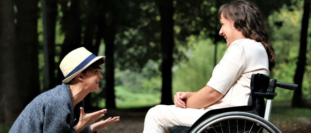 Rollstuhlfahrerin: Seit Jahren nehmen die vereinbarten BU-Leistungen zu, so der GDV. © Pexels