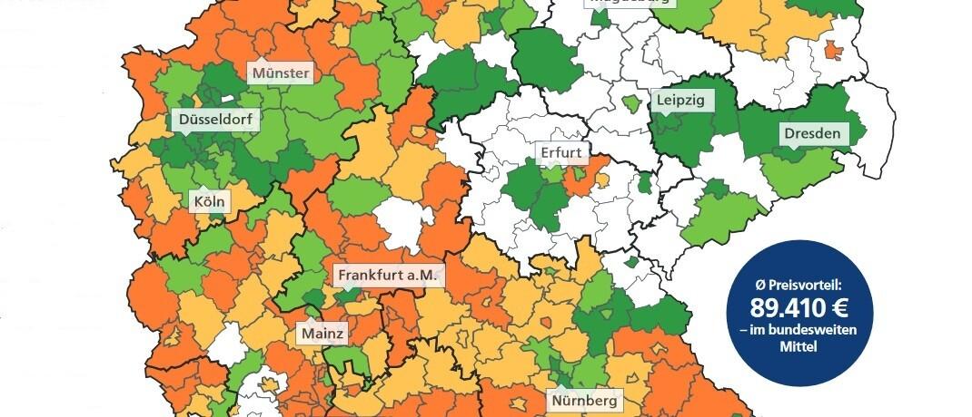 Wo sich der Kauf von Bestandsimmobilien besonders lohnt