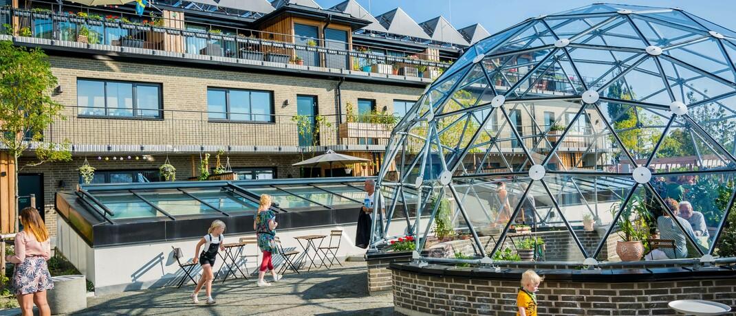 Ein grünes Haus in Malmö, Schweden: Die neuen ETFs von Credit Suisse Asset Management investieren unter anderem in umweltfreundliche Immobilienaktien.|© imago images / Pacific Press Agency