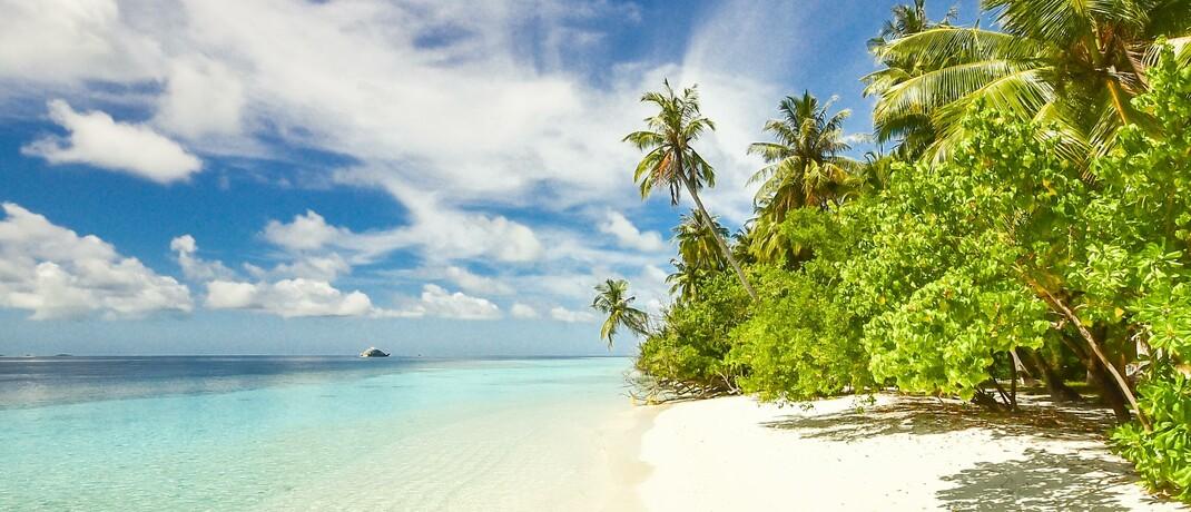 Ein Strand auf den Malediven: Aufgrund der coronabedingten Kontakt- und Reisebeschränkungen mussten viele Deutsche ihre Reisepläne ändern. Die Anzahl telefonischer Anfragen rund um die Rechte von Reisenden schnellte in die Höhe.|© Pexels