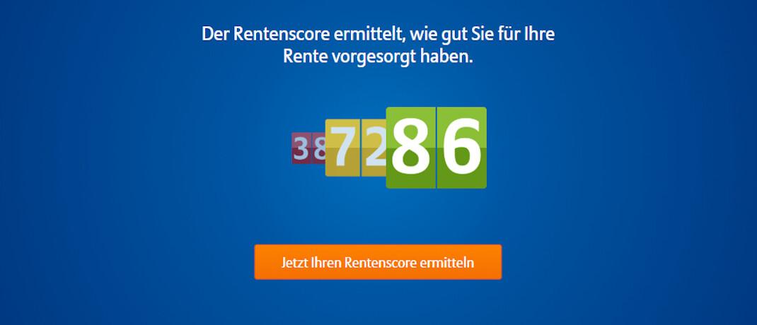 Screenshot des kostenlosen Rentenrechners der Allianz: Ein neues Online-Angebot der Allianz soll den Nutzern einen besseren Überblick ihrer Altersvorsorge verschaffen.|© Allianz Deutschland
