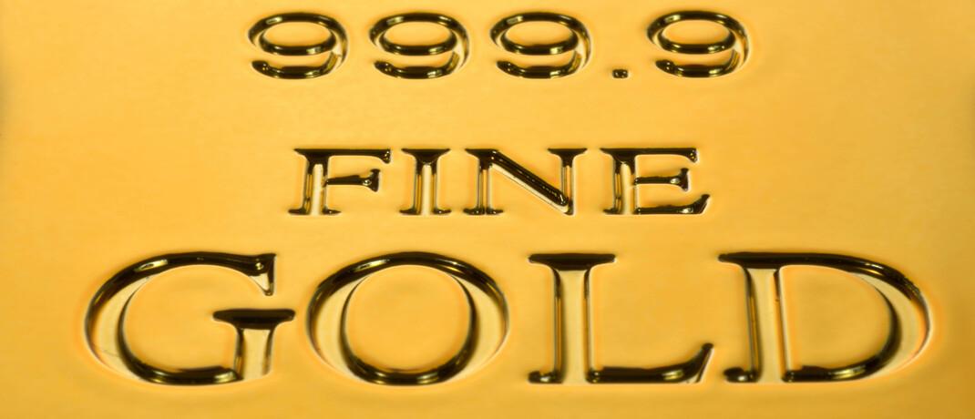 Goldbarren mit Feinheitsgrad 999,9