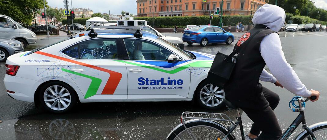 Autonom fahrendes Auto in St. Petersburg: Wer sich nicht sicher ist, welche Technologie langfristig erfolgreich sein wird, der sollte nicht alles auf eine Karte setzen, sondern sein Portfolio diversifizieren. |© imago images / ITAR-TASS