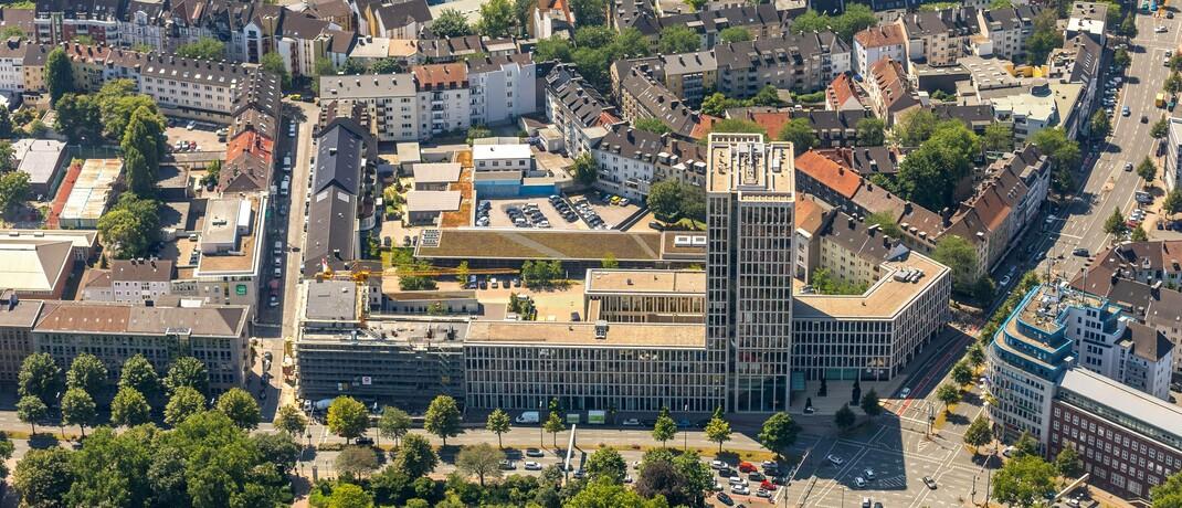 Gebäude der Volkswohl Bund in Dortmund: Der auf den Maklervertrieb spezialisierte BU-Versicherer liegt bei den Vema-Partnern in punkto Qualität derzeit vorn.|© imago images / Hans Blossey