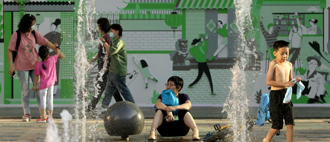 Straßenszene in Peking