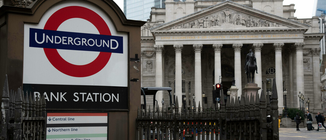 Börse in London: Der Amundi Prime UK Mid and Small Cap soll Anlegern Zugang zu 150 britischen Small- und Mid-Caps geben. © imago images / Becker&Bredel