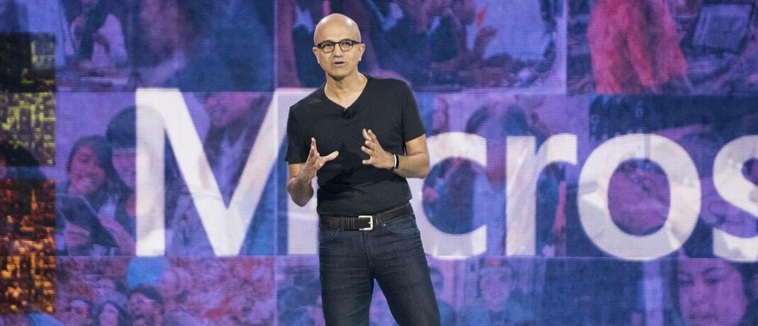 """Satya Nadella, CEO eines Softwaregiganten: Die """"Big Five"""" haben dieses Jahr fünf Prozentpunkte zur Wertentwicklung des S&P 500 beigetragen."""