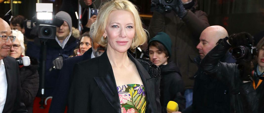 """Cate Blanchett zur Premiere der Netflix-Serie """"Stateless"""" auf der Berlinale 2020: Um sich im Wettbewerb abzugrenzen, mussten Streaming-Plattformen verstärkt ins Produktionsgeschäft gehen. © imago images / APress International"""