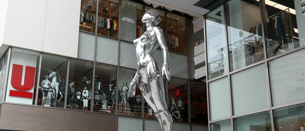 Roboter-Skulptur in Japan