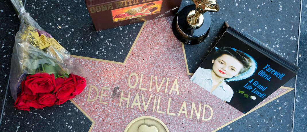 Stern von Olivia de Havilland auf dem Hollywood Walk of Fame: Die Schauspielerin starb am 25. Juli 2020 im Alter von 104 Jahren.|© imago images / ZUMA Wire / Ringo Chiu