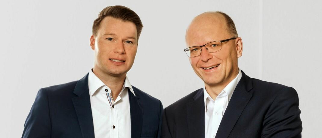 Micha Hildebrandt (l.) und Stefan Schumacher: Der Vorstand der Vigo Krankenversicherung ab August.