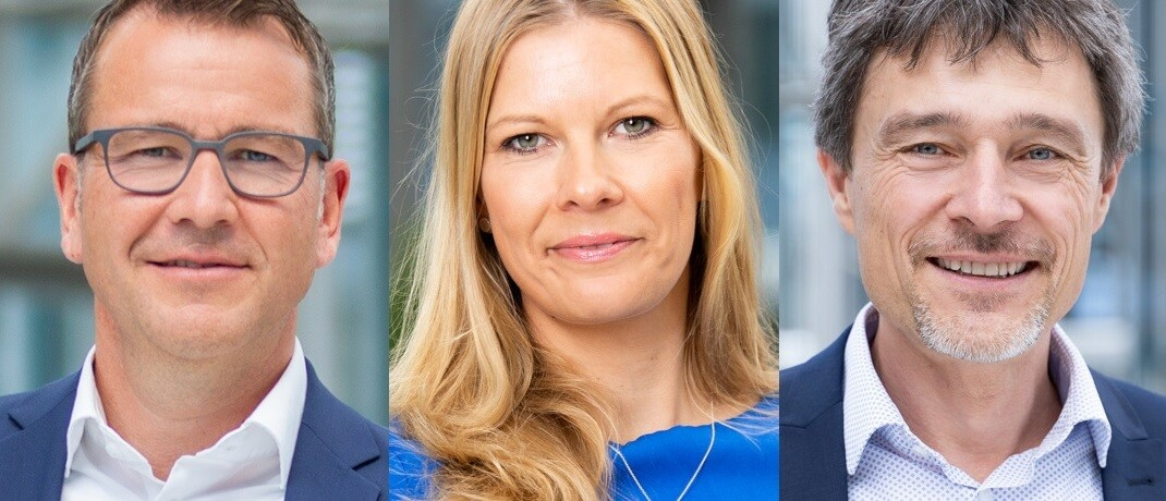 Florian Schwenninger, Christine Schönteich, Klaus Brodbeck (v.li.): Der Münchner Maklerpool hat seine Geschäftsleitung verstärkt.|© Fonds Finanz