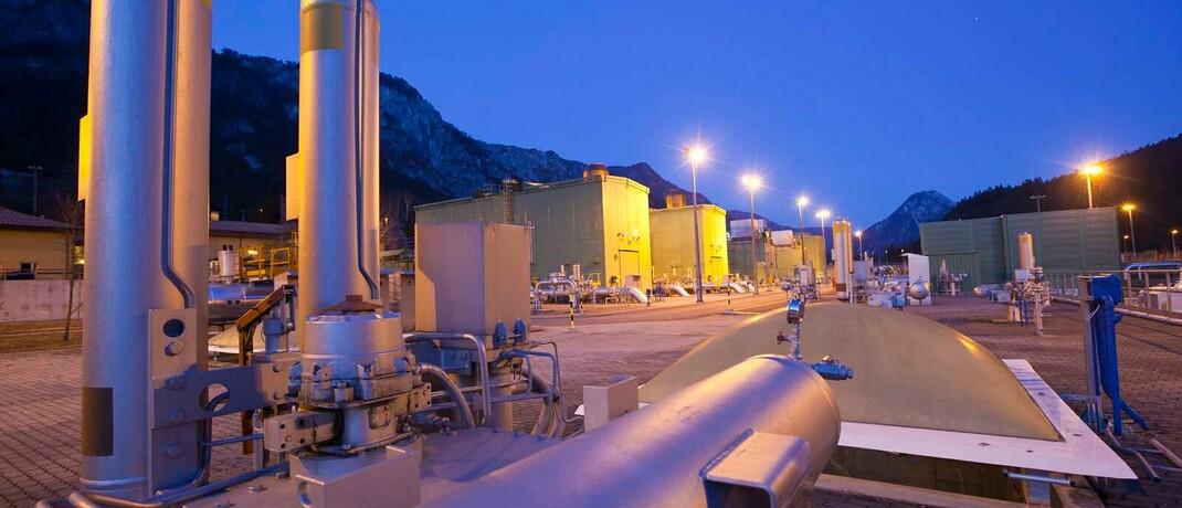 Kompressionsanlage für Erdgas im italienischen Malborghetto: Die Anleihe des Betreibers SNAM ist mit 0,55 Prozent Gewichtung die zweitgrößte Position im DWS-ETF.|© SNAM