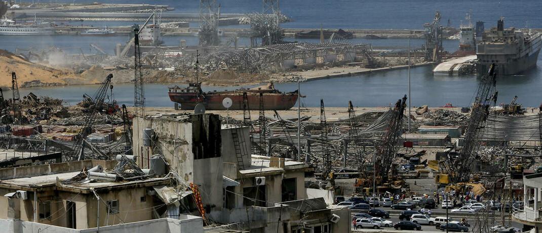 Der Schaden, den die Explosion im Hafen von Beirut am Dienstag angerichtet hat: Die Versicherer schätzen den materiellen Schaden auf bis zu 6 Milliarden US-Dollar ein. © imago images / ZUMA Wire