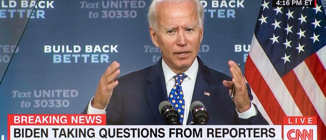Joe Biden, Präsidentschaftskandidat der US-Demokraten: Für das Amt des Vizepräsidenten soll eine Frau benannt werden.|© imago images / ZUMA Wire