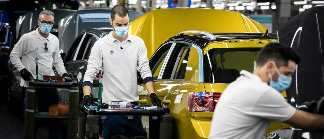 Fabrik in Portugal: Autobauer haben in Europa besonders viele Mitarbeiter in Kurzarbeit geschickt. |© imago images / ZUMA Wire