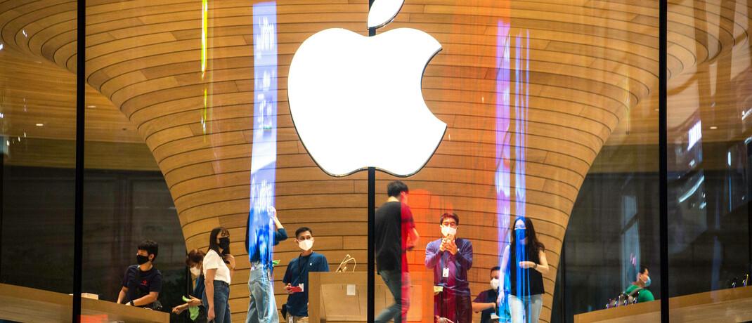 Apple-Store in Bangkok: Der Software-Hersteller hat einen Aktien-Split angekündigt.|© imago images / ZUMA Wire