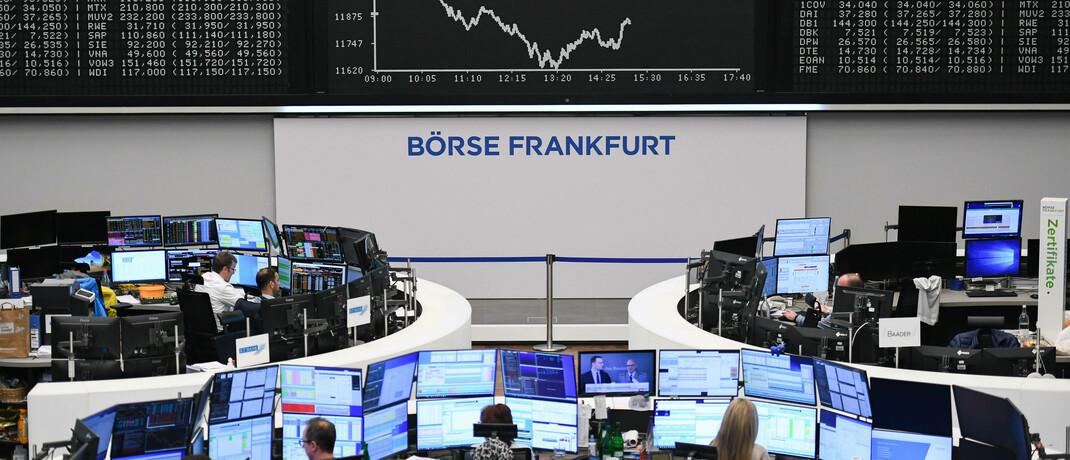 Die Börse in Frankfurt, Heimat des Dax: Der deutsche Leitindex ist ein beliebtes Ziel der ETF-Anleger.|© imago images / Xinhua / Lu Yang